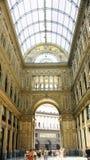 Gallerie interne panoramiche di Umberto I, Napoli Fotografie Stock