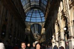 Gallerie Vittorio Emanuele, Milaan bij Kerstmis royalty-vrije stock afbeeldingen