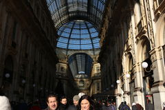 Gallerie Vittorio Emanuele, Milan at Christmas. Symbol of Italy, Milan is a very modern and old city at the same time Royalty Free Stock Images