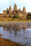 Galleried temple surrounding Angkor Wat Stock Photography