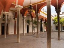 Gallerier av Casa de Pilatos, Seville Arkivbilder