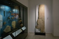 The galleries of Ancient Egypt and Sudan, Ashmolean museum. The galleries of Ancient Egypt and Sudan demonstrating the human occupation of the Nile Valley and Stock Images