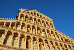 Galleries of the facade of Santa Maria Assunta Royalty Free Stock Images