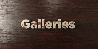 Galleries - grungy wooden headline on Maple  - 3D rendered royalty free stock image Royalty Free Stock Image