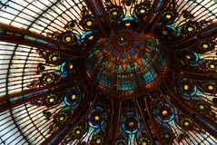 Galleries Lafayette. Dome, in the center of Paris, France Royalty Free Stock Photography