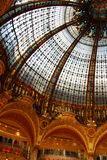 Galleries Lafayette. Dome, in the center of Paris, France Royalty Free Stock Images