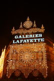 Galleries Lafayette at Christmas time stock images
