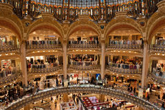 Galleries Lafayette Paris Royalty Free Stock Image