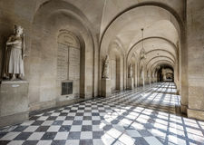 In the galleries of Versailles. In the galleries of the royal palace of Versaiiles. France Royalty Free Stock Image