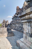 Galleries and walls of Borobudur  temple Royalty Free Stock Photography