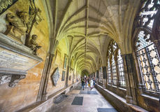 In the galleries of Westminster Abbey Stock Image