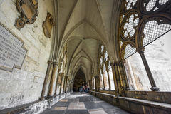 In the galleries of Westminster. Galleries of Westminster Abbey. London Stock Photos