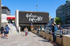 GalleriLafayette Lafayette Montparnasse gallerier, Paris, Frankrike arkivbild