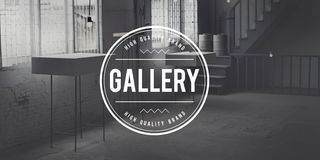 Gallerimuseumutställning Art Space Concept Arkivfoto