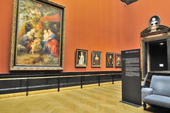 Gallerirum av det Kunsthistorisches museet (museum av Art Histor fotografering för bildbyråer