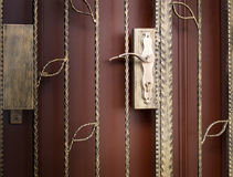 Gallerport, lås och dörr Fotografering för Bildbyråer