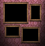 Gallery. More frame whith different size on wall Royalty Free Stock Photos