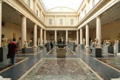 Gallery. The Roman and Greek Galleries at the Metropolitan Museum of Art in New York City Royalty Free Stock Image