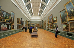 The Gallery. A view of the classical gallery in the Tate Britain museum in London