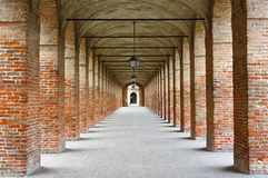 Gallery of the Ancient. In Sabbioneta, small town in Cremona province. Lombardy. Italy Stock Photo