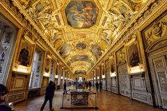 Gallery Apollo in Museum Louvre Royalty Free Stock Photos