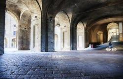 Gallery of arcade Piazza della Pilotta  in Parma, Italy, Stock Photos
