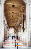 Gallery of arcades in Bologna, Italy. Walking aria by arcades in Bologna, Italy Stock Photo