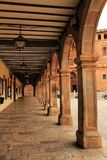 Gallery with arcades of Renaissance style royalty free stock photography