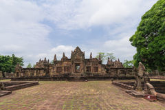The gallery and archways of Mueang Tam Stone Castle Royalty Free Stock Photography