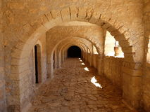 Gallery of the Arkadi monastery Royalty Free Stock Photo