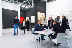 Gallery in an art fair Stock Image