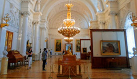 Gallery of arts in The State Hermitage Museum Stock Image