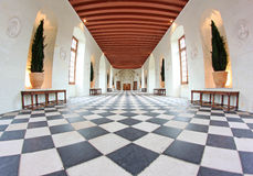 The Gallery Ball Room at Chenonceau Castle France Stock Image