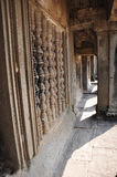 The Gallery of Bas-Reliefs from gopura III at Angkor Wat Royalty Free Stock Photos