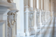 Gallery in a beautiful palace Royalty Free Stock Photography