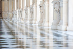 Gallery in a beautiful palace Royalty Free Stock Image