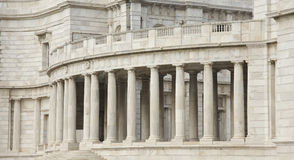 Gallery with beautiful pillars, Victoria Memorial Royalty Free Stock Photo