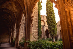 Gallery in Bellapais Abbey. Kyrenia district, Cyprus Royalty Free Stock Photography