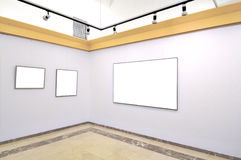 Gallery of blank canvases Royalty Free Stock Photography