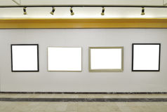 Gallery of blank canvases Royalty Free Stock Photo