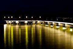 Gallery bridge with yellow light Royalty Free Stock Photos