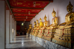 Gallery of buddha image statue. Variant thai temple golden buddha image in wat pho Royalty Free Stock Image