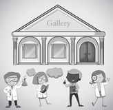 Gallery building and people Royalty Free Stock Photos