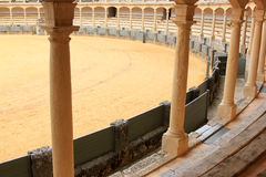 Gallery in the bullring of Ronda, Andalusia, Spain Royalty Free Stock Photo