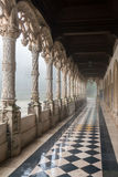 A gallery at Bussaco Palace, Portugal Royalty Free Stock Image