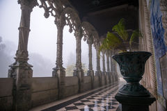 A gallery at Bussaco Palace, Portugal Stock Photos