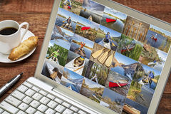 Gallery of canoe paddling pictures Stock Photography