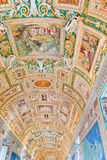 Gallery ceiling at the Vatican Museum in the Vatican City, Rome, Stock Photos