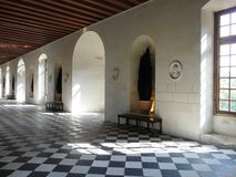 Gallery at the Chateau de Chenonceau, France Stock Images