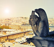 Gallery of chimera, Notre Dame de Paris Royalty Free Stock Photography